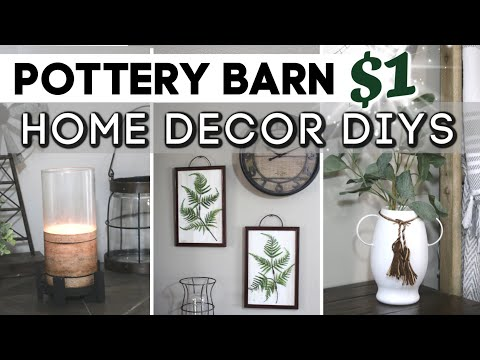 High-End POTTERY BARN INSPIRED Dollar Tree DIYS MODERN FARMHOUSE | $1 DIY Dollar Tree Room Decor