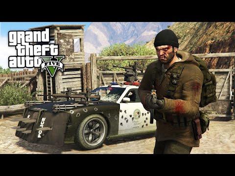 Grand Theft Auto V Walkthrough - GTA 5 PLAY AS A COP MOD - CAPTAIN