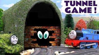 Thomas & Friends Toy Trains Tunnel Prank - Percy and Thomas guess the train - Tom Moss pranks TT4U
