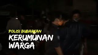 Polisi Bubarkan Kerumunan Warga di Salah Satu Kafe di Kota Blitar