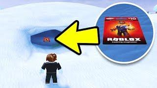 HIDDEN ROBUX CARD IN JAILBREAK! FIND THE FREE ROBUX HIDE & SEEK! | Roblox Jailbreak Winter Update