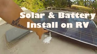 Solar, Satellite, & Battery Install On RV