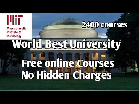 MIT Free Online Courses// MIT open courseware// Massachusetts ...