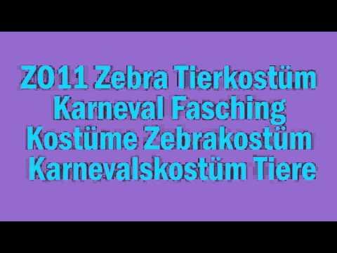 ZO11 Zebra Tierkostüm Karneval Fasching Kostüme Zebrakostüm Karnevalskostüm Tiere