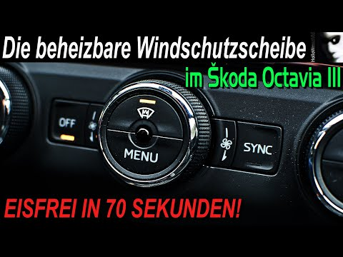 Die Windschutzscheibenheizung im Skoda Octavia III RS | Eisfrei in 70 sek |