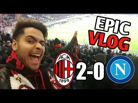 EPIC VLOG! AC MILAN 2-0 NAPOLI! PIATEK EL PISTOLERO ILUMINA SAN SIRO!