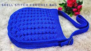 Crochet    Shell Stitch Crochet Bag