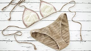 How to Crochet Bikini Bottoms | Patterns for Any Size