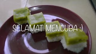 Kuih Seri Muka | Kueh Salat | Steamed Glutinous Rice With Pandan Custard