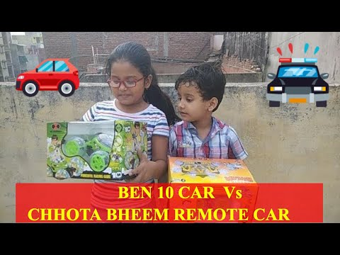 BEN 10 CAR Vs CHHOTA BHEEM  Twister REMOTE CAR REVIEW and Playing