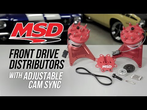 MSD Front Drive Distributors with Adjustable Cam Sync