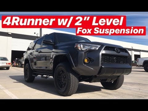 4Runner Fox Suspension TRD Pro Wheels & Black Out Valances