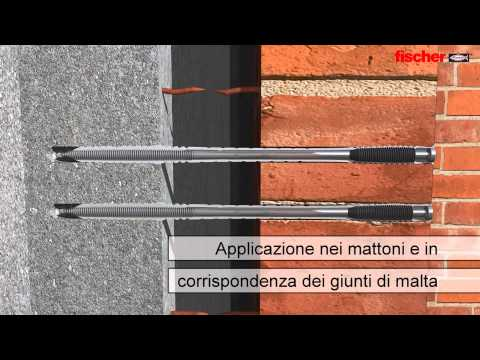 fischer VBS fissaggio della parete in mattoni faccia a vista alla parete portante.