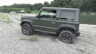 [JIMNY LAB] 新型ジムニーシエラ2WDで河川敷走行