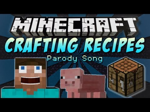 """Video ♪ """"Crafting Recipes"""" A Minecraft Parody Song of One Direction's """"Little Things"""" ♪"""