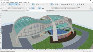 Architecture Shell Curved Building Futuristic Mode
