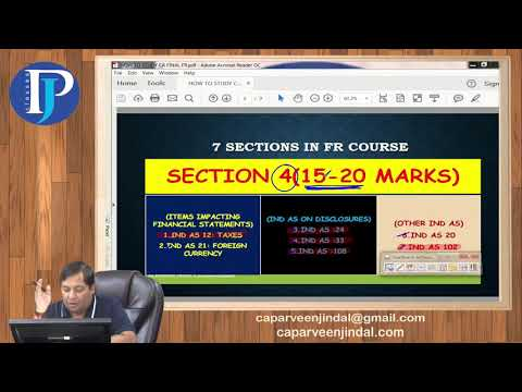How To Study CA Final FR Course By CA Parveen Jindal Sir