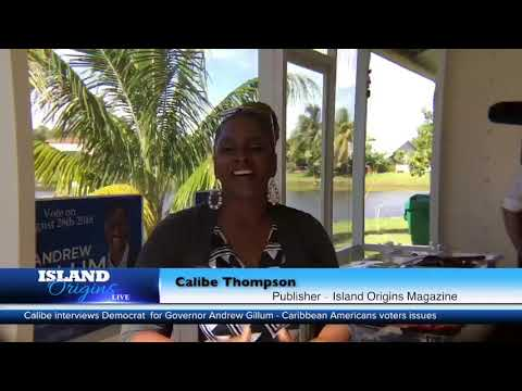 Mayor Andrew Gillum, democratic candidate for Florida Governor, sits with Island Origins Magazine…
