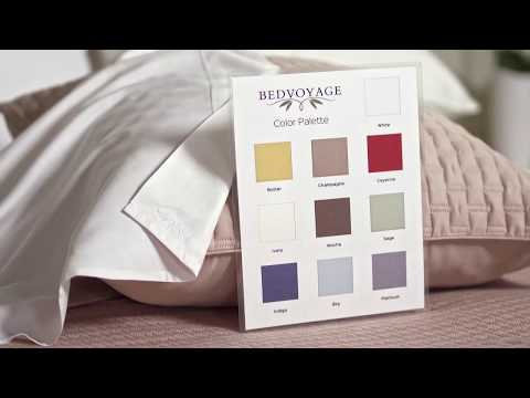 Video for Champagne Rayon from Bamboo Standard Shams