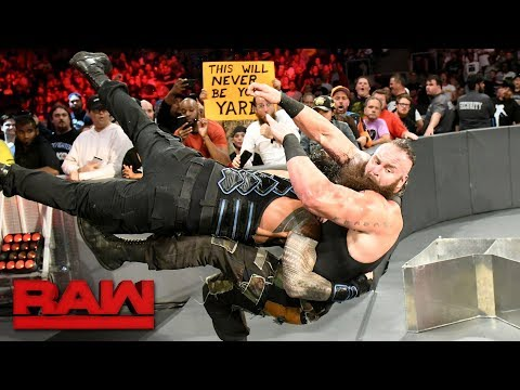 roman reigns vs braun strowman last man standing match raw a