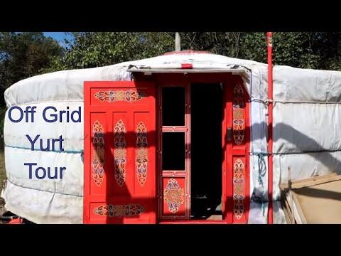 Tiny House YURT Tour -  Off Grid Living