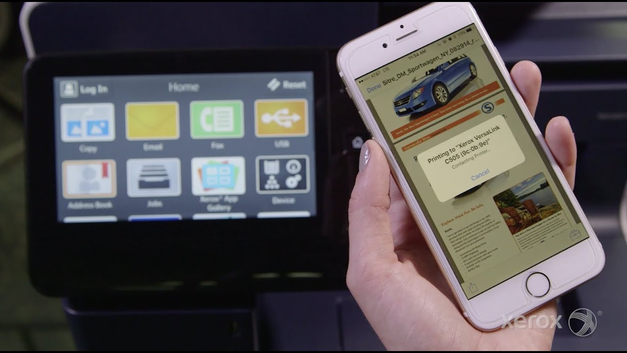 Printing to Your Xerox VersaLink MFP or Printer From Your Apple iOS Device YouTube Video