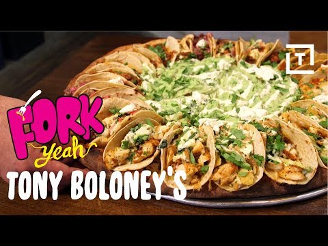 Tony Boloney's Giant Taco Covered Pizza || Fork Yeah
