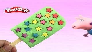 Create ice-cream star playdoh videos toysไอศครีมแป้งโดว์และตัวเลข |ของเล่นเด็ก