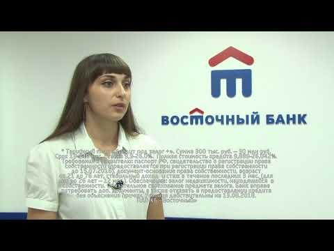 Банк «Восточный» предлагает кредит под залог недвижимости до 30 млн рублей