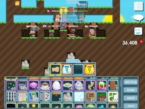 Growtopia - DROPPING 20DLS IN A DROPGAME!ALMOST GOT SCAM!