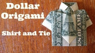 Shirt and Tie: Dollar-Bill Origami
