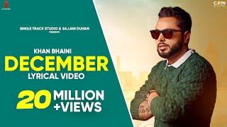 Khan Bhaini | December Lyrical Video | New Punjabi Songs | Latest Punjabi Song 2020 | Ditto Music