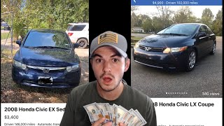 """FLIPPING CARS FOR CASH EP. 8 ($1100 PROFIT) """"TIRE KICKERS DON'T BUY HONDA'S"""""""