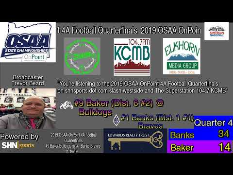 High School Football Playoff - Baker Bulldogs vs. Banks Braves - 11/16/2019