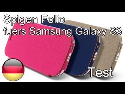 Samsung Galaxy S3 Kunstlederhuelle Folio im Test