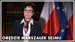 Orędzie marszałek Sejmu Elżbiety Witek