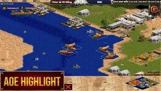 AOE HighLights - Kinh điển map biển đời 4 của Chim Sẻ Đi Nắng vs Bibi