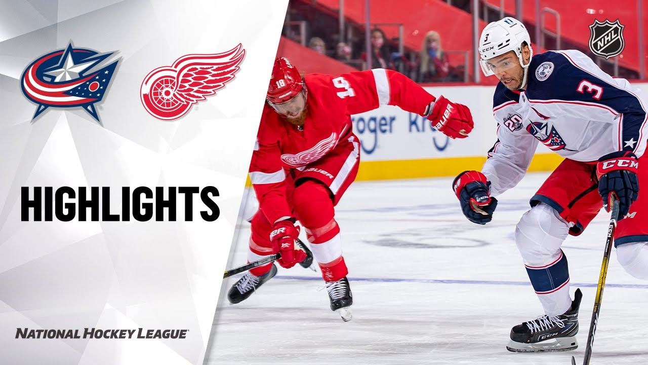 Blue Jackets vs Red Wings | Monday, January 18, 2021