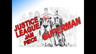 How To ART Draw Ink Superman Justice League JAM Piece DC Comics