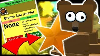 Bronze Star Amulet Huge Boost 200 Royal Jelly Used Roblox