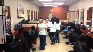 Haircuttery  Celebrating Life .Flash mob.