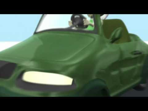 3D - Saru in a Pedal Car