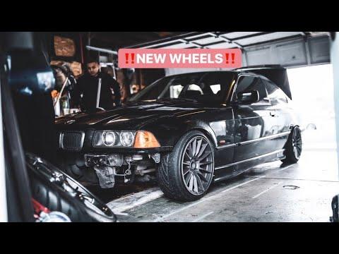 BMW E36 gets new wheels!!!