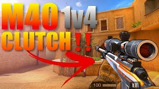 StandOff 2 M40 Sniper Crazy 1v4 Clutch Gameplay‼️