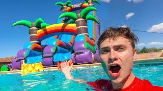 WORLDS BIGGEST BACKYARD WATERSLIDE!! - Video Youtube