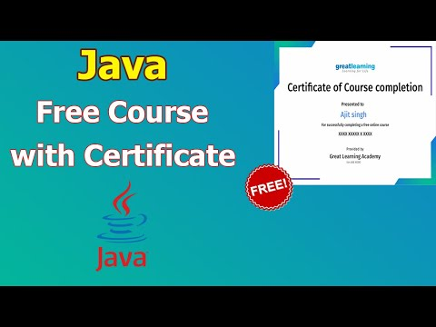 Java Free Online Course With Certificate | Java Free Certification ...