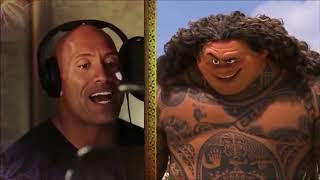 MOANA:Dwayne The Rock Johnson (Maui) Singing For Moana