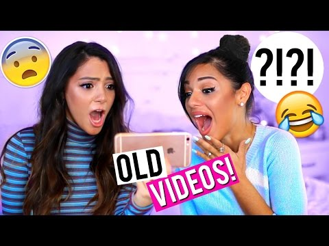 REACTING TO OLD VIDEOS | Niki and Gabi
