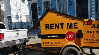 Our first ever 6-yard Drive up & go Dumpster Rental Service in New Orleans