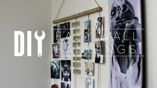 DIY Cheap Easy Wall Hangings